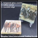 5mm Tempered Glass Coaster mit Horse Decal Pattern