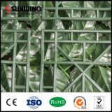 セリウムとのPVC Coated Green Plastic Artificial Plant Leaf Fence Outdoor