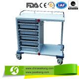 Trole/carro clínicos luxuosos de Meical do hospital da alta qualidade Skr036