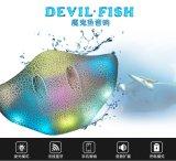 Altavoz sin hilos de los pescados del diablo mini con la luz del LED
