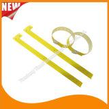 Wristband браслетов удостоверения личности таможни зрелищности пластичный (E8070-85)