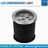 강화된 판 IP67 9X2w LED Inground 가벼운 IP67 24W LED에 의하여 매장되는 빛