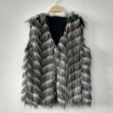 Жаккард сплел пальто тельняшки Gilet шерсти павлина Faux