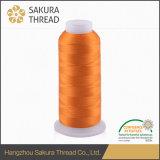 Ricamo industriale del rayon 120d 2/filetto di lavoro a maglia con il certificato di Oeko-Tex