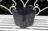 ホームのための黒い鍋が付いている型によって開かれる金属のつぼ
