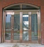 De luxe Gouden Commerciële Deur van de Ingang van het Roestvrij staal (bhs-DCA04)