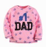 昇進の幼児の男の子の女の子の長い袖の100%年の綿のTシャツの上のティーのサイズ3-8年