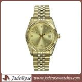 Montre de vente chaude de quartz de poignet d'hommes de montre d'acier inoxydable de montre