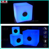 Noche elegante del altavoz del LED del altavoz sin hilos ligero LED de Bluetooth APP Bluetooth 4.0
