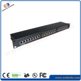 "19 ""1u Cat. 6 STP / FTP 24 portas Patch Panel Horizontal Version"