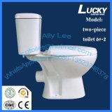 Toilette en céramique Jx-6#-2 de cabinet en deux pièces du lavage à grande eau C de qualité faite dans la province de Henan Chine