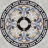 ウォータージェットの大理石の円形浮彫り