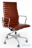Eamesの現代オフィスの管理の革張りのいす(E001C)