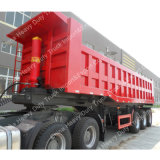 Venda Usado 90mm King Pin 45m3 Cargo Box Dump Semi-Trailer