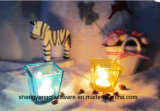 Colchão de cores Prendedor de vela de copo de vidro do dia de Natal