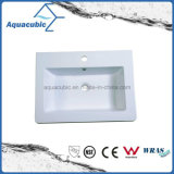 Badezimmer weißes Polymarble Wäsche-Bassin Acb6004