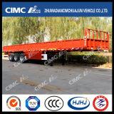 Des ventes Cimc Huajun 3axle de barrière bas de page chaud semi de la capacité 40-80tons