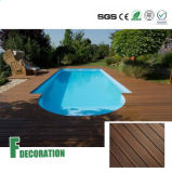 Decking imperméable à l'eau de WPC pour la piscine