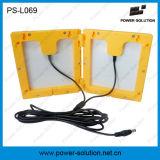 암흑에 있는 USB 충전기 하나 전구 빛을내는 결박을%s 가진 재충전용 휴대용 태양 손전등