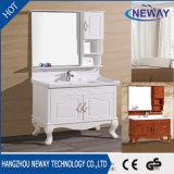 Fußboden-stehende hölzerne weiße Badezimmer-Eitelkeiten