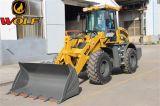 2トンの機械部品が付いている中国のフロント・エンド車輪のローダー