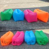 Lavable plegable portable inflable rápido de la base de la playa del saco de dormir del bolso perezoso del sofá del aire que acampa