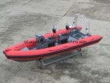 Barco inflável 5.8m rígido do barco do mergulho de China Aqualand 19FT/de patrulha salvamento do reforço/barco do ônibus (rib580t)