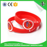Wristband colorido gravado ou cor enchido do silicone do logotipo