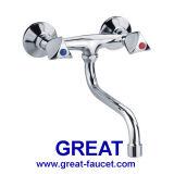 Двойн-Отрегулируйте Wall-Mounted латунный Faucet кухни