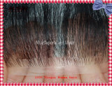 Remy Human Hair Clear PU (ポリウレタン) Base Injection Toupee