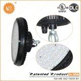 Lámpara de la bahía del UFO LED de Dlc IP65 150W del cUL de la UL alta con el sensor ligero