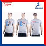 Healong heißes Verkaufs-Silk Bildschirm-Drucken, das T-Shirt bekanntmacht