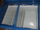 9.2 Cubics que desliza o congelador de vidro curvado da caixa do gelado da porta