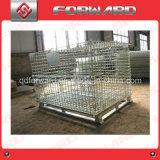 Contenitore del pallet galvanizzato acciaio accatastabile della rete metallica per memoria