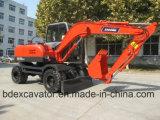 Excavador de la rueda de la exportación caliente de China pequeño con el martillo quebrado