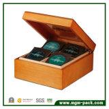 Выполненное на заказ роскошное хранение подарка упаковывая деревянную коробку