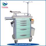 Carretilla de la emergencia del ABS de los muebles del hospital
