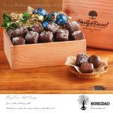 Boîte en bois de luxe faite sur commande à sucrerie de chocolat de Hongdao pour le cadeau bourrant le _E de cadre en bois