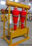 Hydrocyclone de Desander no sistema de controlo dos sólidos de perfuração para a exploração do petróleo