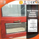 Marco revestido de aluminio Windows, diseño de madera de madera de roble de la parrilla de ventana de la última alta calidad del diseño