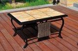 Insieme sezionale di vimini esterno della mobilia del giardino del sofà