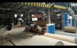 Placa de papel ondulado de alta velocidade 1200-2200mm que faz o equipamento