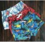 Ткань Mose всходит на борт краткостей, краткостей пляжа человека напечатанных цветком