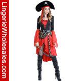 Costume Cosplay пирата причудливый платья партии Halloween женщин сексуальный пунцовый жестокосердный