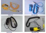 Courroie de poignet de DÉCHARGE ÉLECTROSTATIQUE de câble utilisée dans la chambre propre