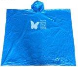 Poncho clair remplaçable de pluie de PE estampé par logo promotionnel de qualité
