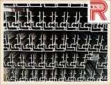 Profils en aluminium/en aluminium d'extrusion de châssis de fenêtre de tissu pour rideaux