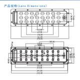 LED Street Light/Lamp Module Lens con 24 (3*8) LED di XPE/Xte 3535 3030 (Polarized Light)