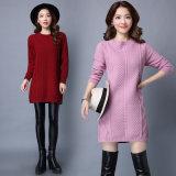 Kleidung 2017 neuer Dame Silk Baumwoll, Pullover-Strickjacke-lange Art