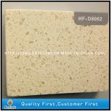 Ausgeführtes künstliches Weiß färbt Quarz-Steinbodenbelag (mit Spiegel-Scheinen)